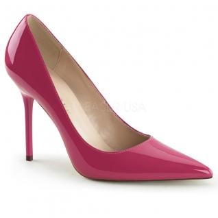 Chaussures à talon escarpins coloris fushia vernis classique-20
