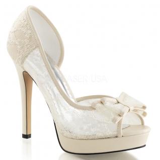 Chaussures en satin sandales habillées ivoires talon fin lumina-33
