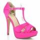 Chaussures en satin sandales fushia lolita-20