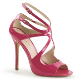 Chaussures sexy sandales à brides fushia talon fin amuse-15
