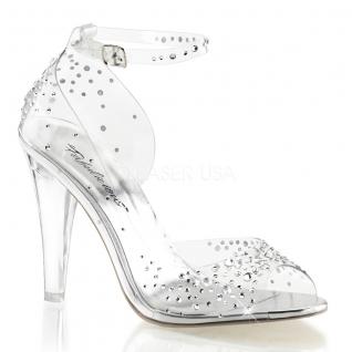 Sandales transparentes à brides talon haut clearly-430rs