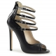 Sandale escarpin noire multi brides talon haut sexy-17