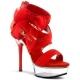 Sandale de soirée en satin rouge talon haut ALLURE-664