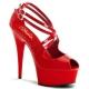 Chaussures sexy sandales rouges vernies talon haut plateforme delight-612