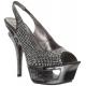 Nu-Pieds Haute Couture Argent Talon Plateforme DELUXE-654RS