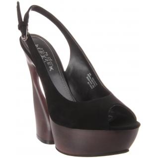 Sandales de Luxe Microfibre Noires SWAN-654