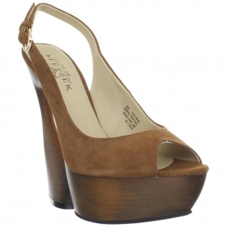 Sandales de Luxe Microfibre Caramel SWAN-654
