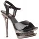 Sandales Noires Vernies et Strass Double Plateforme BLONDIE-610RS