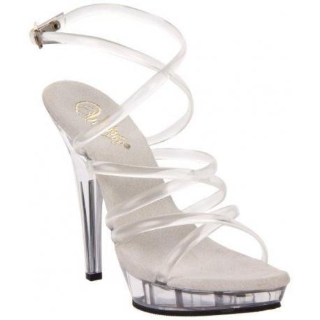 Chaussures nu-pieds transparents à fines brides talon entonnoir lip-106