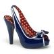 Sandales Talon Haut Bleues Vernies BETTIE-05