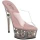 Chaussures originales mules transparentes plateforme rose delight-601fl
