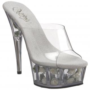Chaussures transparentes mules originales à talon plateforme delight-601fl