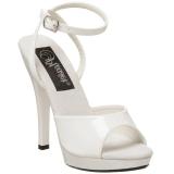 Chaussures sandales blanches vernies bride croisée talon fin lip-125