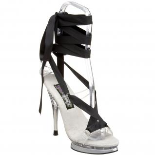 Chaussure spartiate transparente à lacet couleur talon haut fairy-08