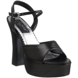 Sandale plateforme noire mat  DOLLY-09