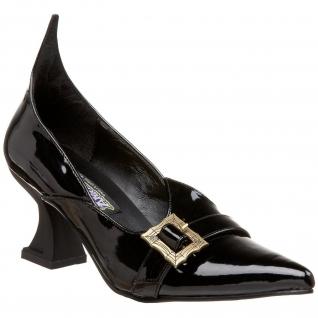 Escarpins Gothiques noirs vernis talon original