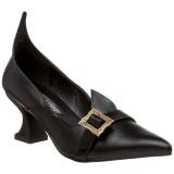 Escarpins Gothiques noirs talon original