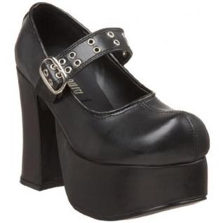 Escarpins gothiques noirs à bride