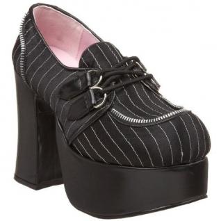 Chaussures escarpins gothiques noirs rétro talon large charade-12