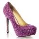Escarpins de soirée paillettes violettes