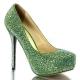 Escarpins de soirée paillettes vertes