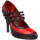 Escarpin rouge et noir TEMPT-10
