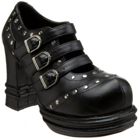 Chaussures gothiques escarpins à brides coloris noir vampire-08