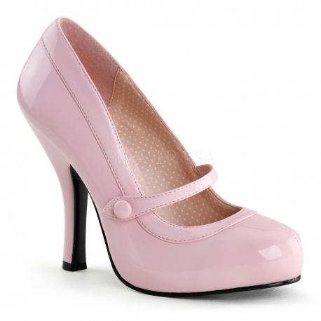 Escarpins à bride Pinup coloris rose