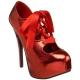 Escarpins à lacet coloris rouge vernis