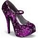 Escarpins paillettes viollettes