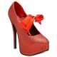 Escarpins rouges à paillettes