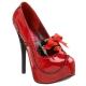 Escarpins rouges vernis plateforme
