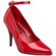 Escarpins rouges vernis bride cheville
