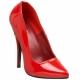 Escarpis sexy rouges vernis