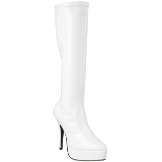 Bottes Blanches Vernies Talon Plateforme INDULGE-2000