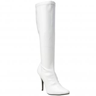 Bottes femmes coloris blanc vernis talon aiguille seduce-2000