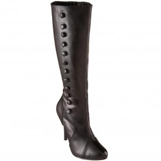 Chaussures style rétro bottes noires haut talon arena-208