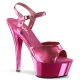 Nu-pied sexy coloris rose chromé talon haut plateforme kiss-209