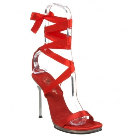 sandale spartiate satin rouge taille 38 destockage. Black Bedroom Furniture Sets. Home Design Ideas