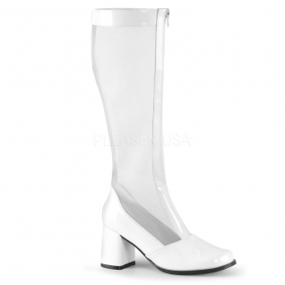 Botte originale blanche petit talon large gogo-307
