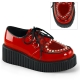 Creepers femme coloris rouge vernis