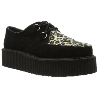 Chaussure gothique homme coloris noir et léopard creeper-400