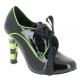 Escarpin Richelieu Steampunk coloris noir et vert