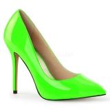 Escarpin original vert fluorescent talon aiguille amuse-20