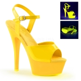 Sandale originale jaune fluorescente talon plateforme kiss-209uv