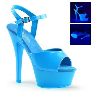 Sandale Pole Dance coloris bleu fluorescent kiss-209uv