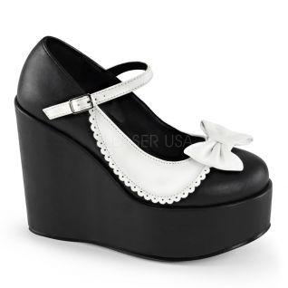 Escarpins gothiques noirs et blancs