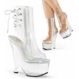 Chaussures sandales transparente compensé  beau-1018