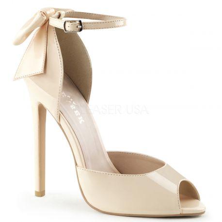 Chaussures scarpins d'Orsay caramel talon fin sexy-16