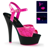 Nu-pied fluorescent coloris rose talon haut kiss-209ml